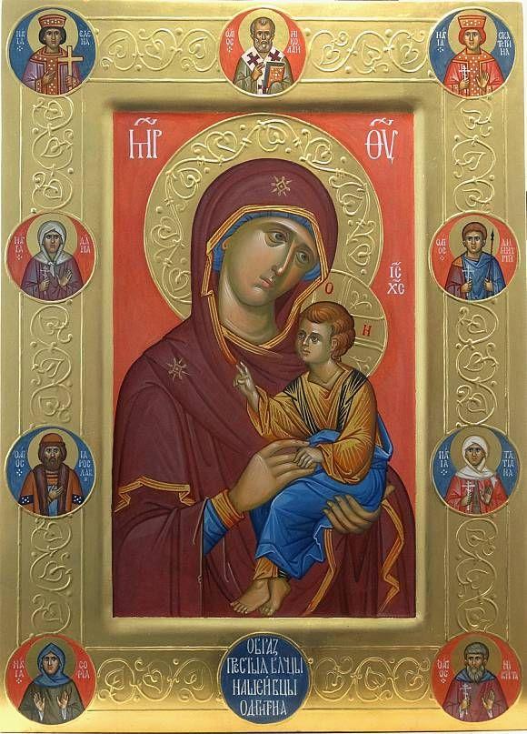 икона Богородицы Одигитрия со святыми на поля…, автор Vladimir Guk. Артклуб Gallerix