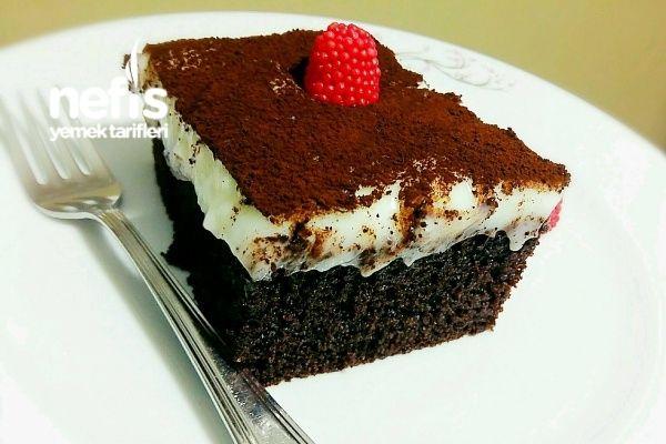 Siyah Beyaz Kremalı Kek