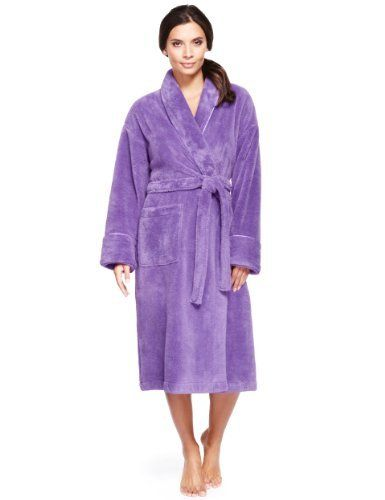 Shawl Collar Cosy Dressing Gown-Marks & Spencer