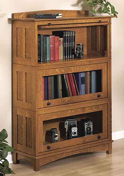 Barrister Bookcase Woodworking Plan, Indoor Home Furniture Project Plan | WOOD Store