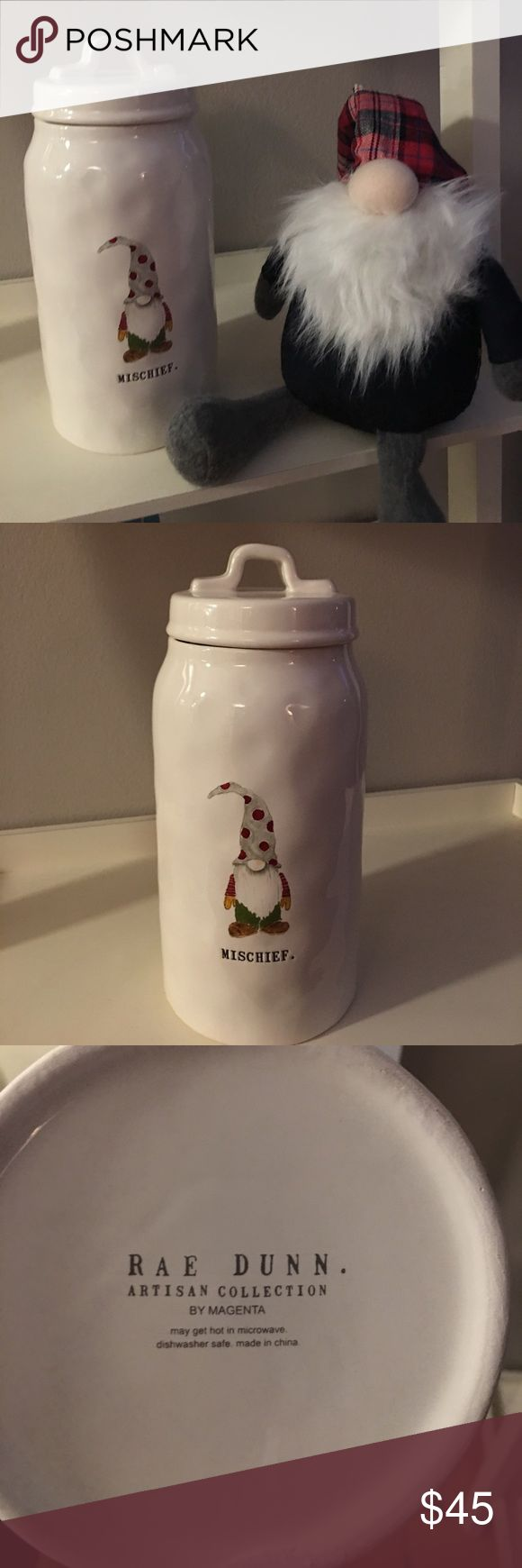 Brand new Rae Dunn Christmas canister Rae Dunn Christmas Elf canister! This is so cute and looks even better in person. Never used brand new. Rae Dunn Other
