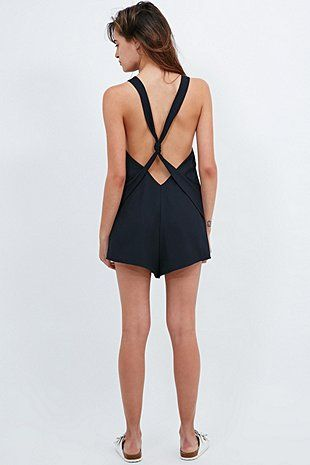 The Fifth Stella Playsuit in Ink - Urban Outfitters