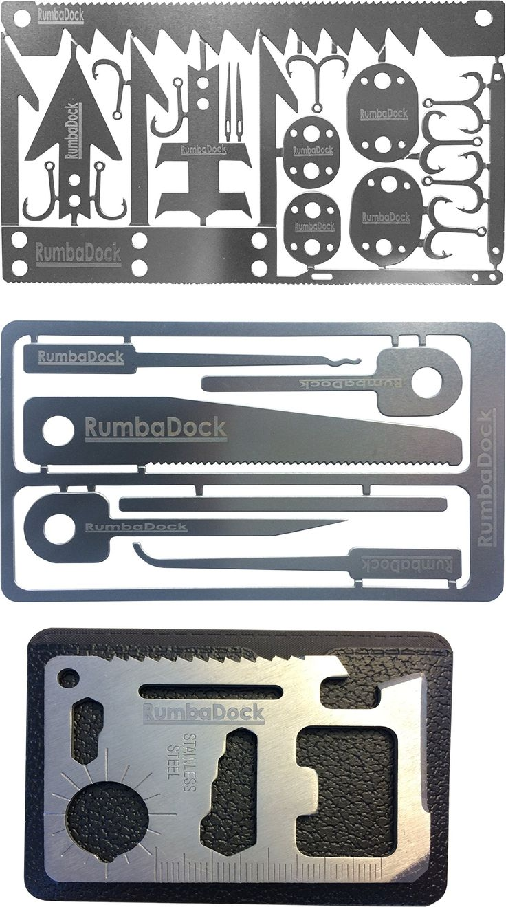 Credit Card Survival Tool Set (3 TOOL Pack): 3 Ultimate Urban Survival Gear Tools- Prepper Supplies, Disaster Emergency Kit with 6pc Picking Tools Kit