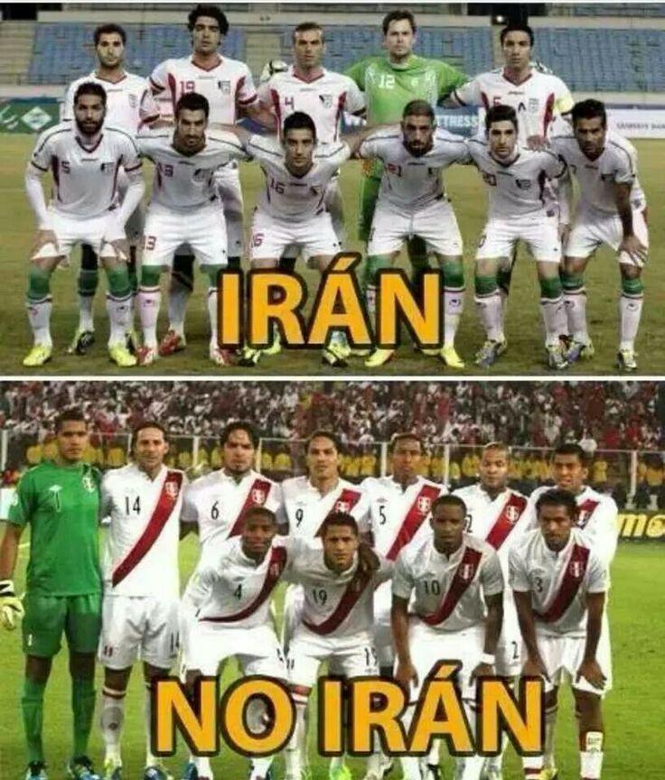 La Seleccion de Iran y la de Peru. May 10, 2014
