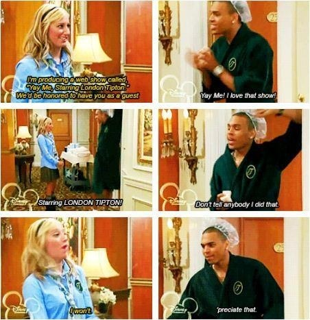 Lol and Chris Brown guest stars on The Suite Life of Zack and Cody