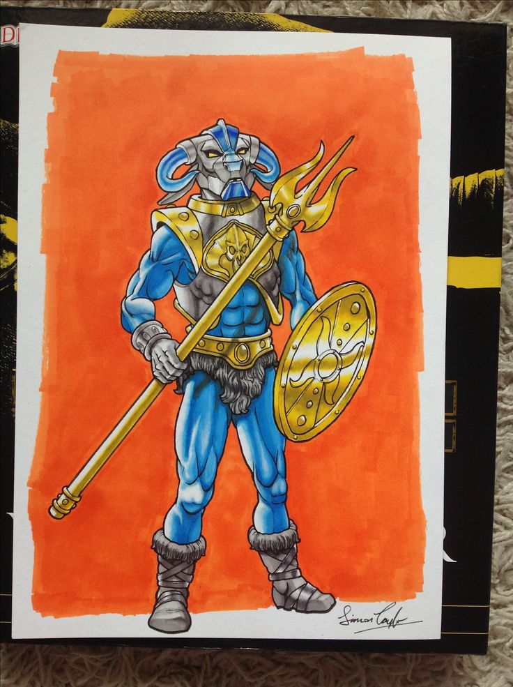 My own Masters of the Universe character, Man-O-Torr, Evil Gladiator and military advisor to Lord Skeletor