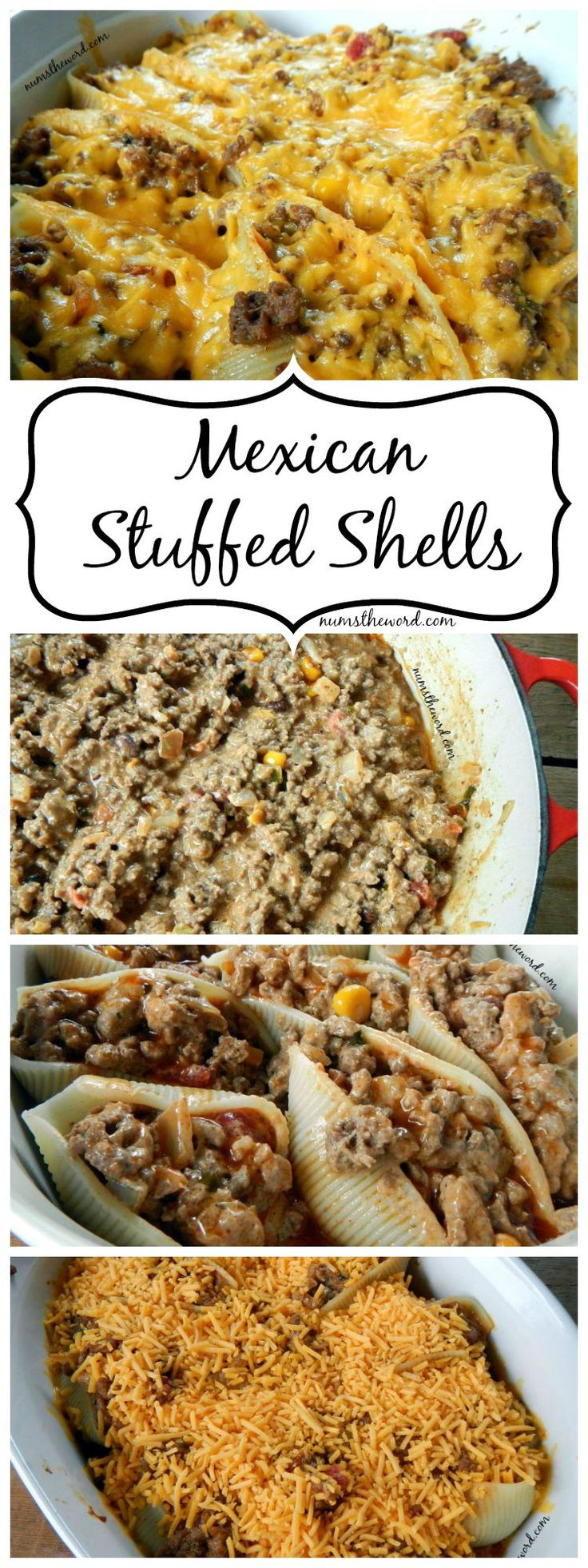 If you love Mexican food and love food that reheats well for leftovers, then try these simple, yet delicious Mexican Stuffed Shells. A perfect dish!