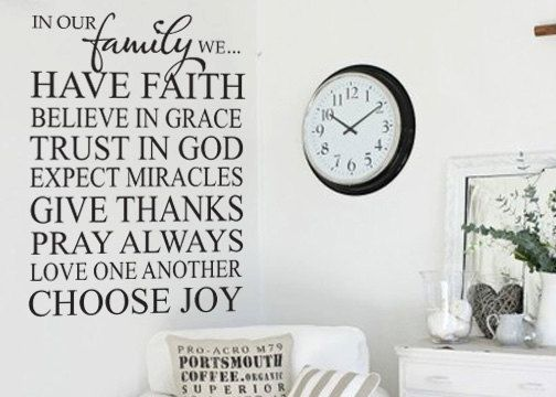 family wall decal: Living Room