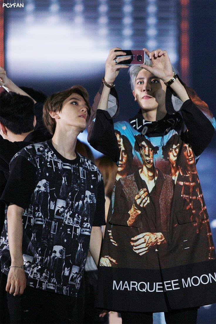 Baekhyun, Chanyeol - 150523 I Love You Korea 2015 Dream Concert Credit: PCYFAN. (사랑한다 대한민국 2015 드림콘서트)