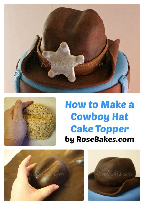 How to Make Cowboy Hat Cake Topper Collage for Pinterest