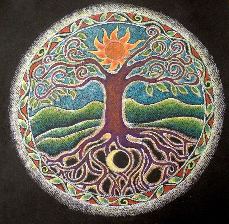 TREE OF LIFE MANDALA - add some balloons and it becomes the balloon tree :)