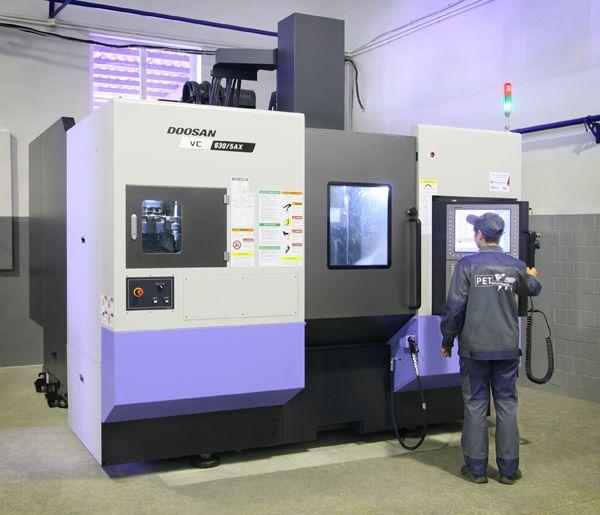 Hemos puesto en marcha el nuevo centro de mecanizado  CNC de 5 ejes Doosan VC630/5AX
