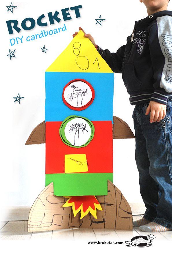 A Cardboard Rocket Kids Space Rocket Craft Ideas