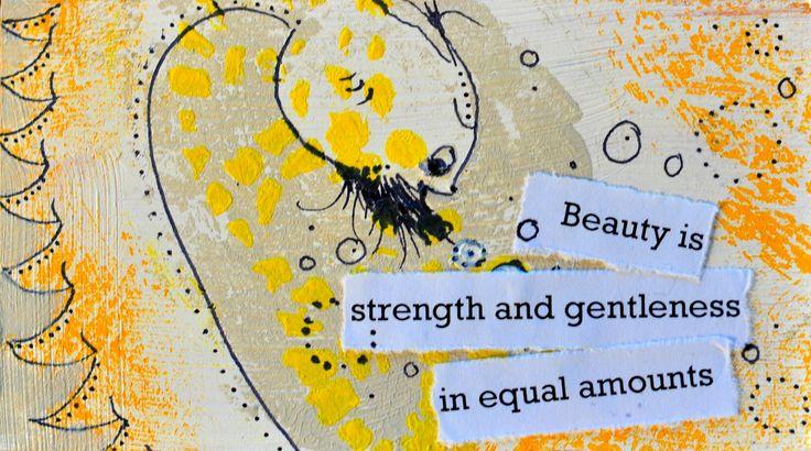 Beauty monster. Miniature art by Bea Pierce.