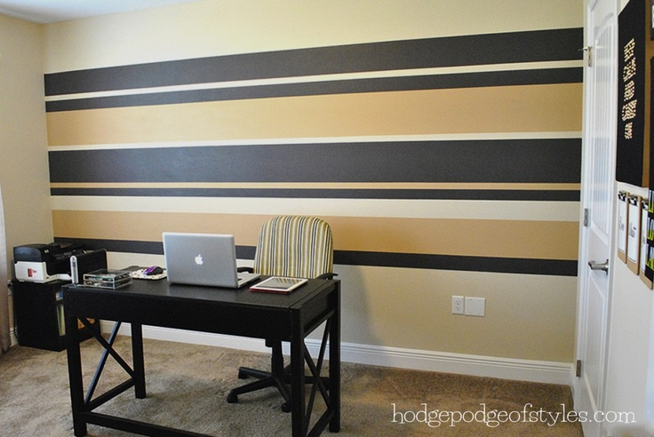 9 best accent walls images on pinterest guest rooms for Accent stripe wall