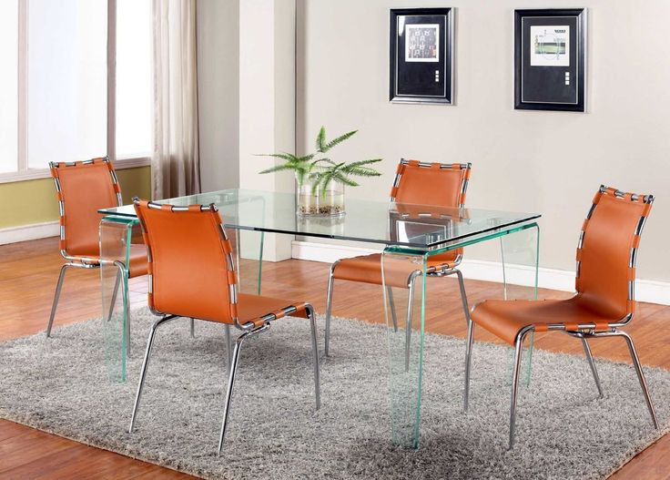 Best 25 Orange Dining Room Furniture Ideas On Pinterest  Orange Endearing Orange Dining Room Table Decorating Inspiration