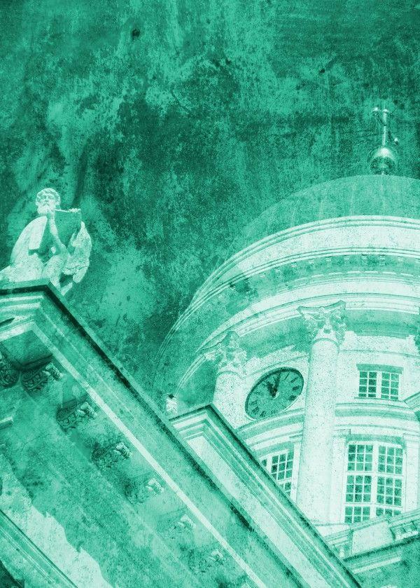 'Vintage Helsinki Teal' - print on metal @displate  #vintagelook #texture #fresh #finland #helsinkicathedral #white #green #god #statue #church #teal #european #helsinki #life #art #artist #nagohnala #artgaragefinland #hogan #alanhogan #displate #metalprints #homedecor #housestyle #elledecor #housebeautiful #wallart #veranda #countryliving #romantichomes #metropolitanhome #bhg
