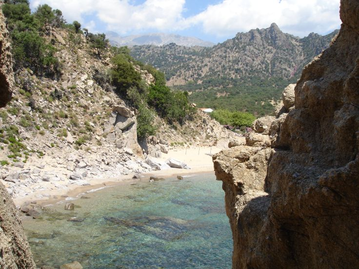 samothraki pahia ammos, from the cliff
