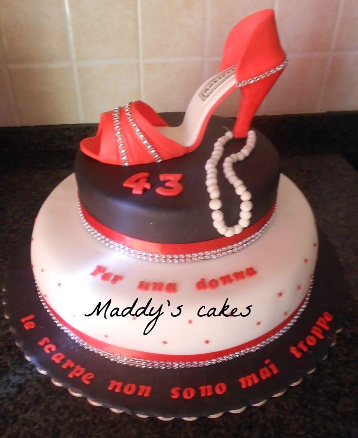 torta scarpa rossa