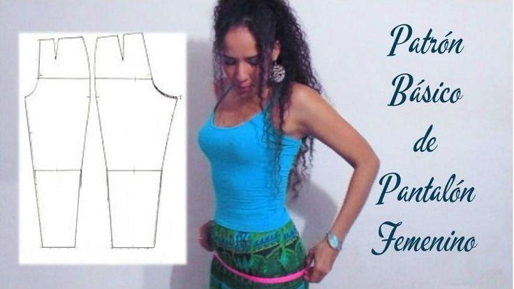 Patrón básico para hacer un pantalón de mujer, ¡apunta!