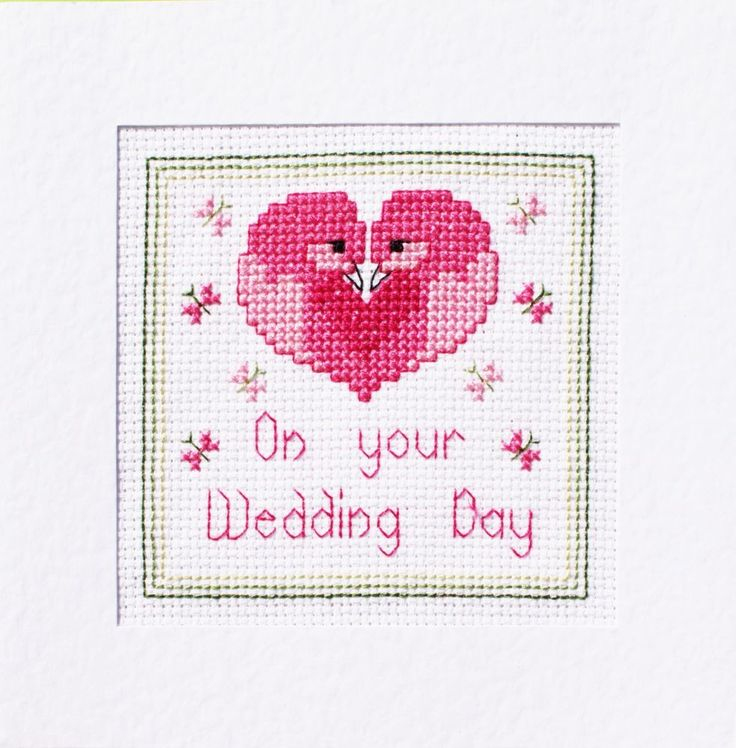 9 best Wedding Day Card Kits images on Pinterest | Cross stitch ...