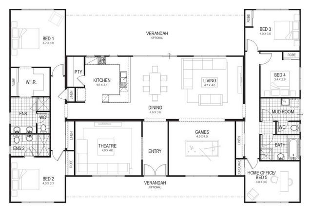 Floor Plan Friday Country Home For All The Family Katrina Chambers Bedroom Floor Plans 4 Bedroom House Plans Bedroom House Plans