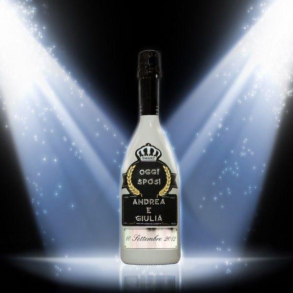 """Bottiglia Imperiale """"Oggi Sposi"""" personalizzabile con le vostre iniziali e con una dedica romantica!"""