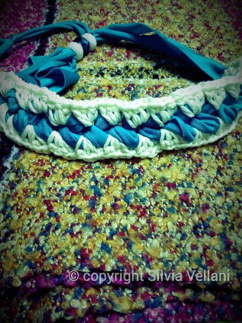 Marea di Leuko: Collarino realizzato in licra e cotone con perle pandora.  Crochet necklace made by lycra and cotton  pandora pearls