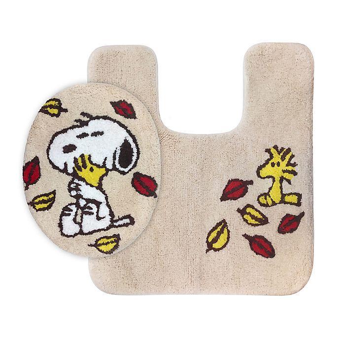 Peanuts Figures Christmas 2020 Set Peanuts™ Harvest 2 Piece Toilet Cover and Rug Set | Bed Bath