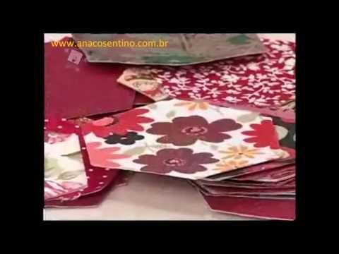 ▶ Patchwork Ana Cosentino: Bolsa Dupla Tiracolo (hexágonos) - YouTube