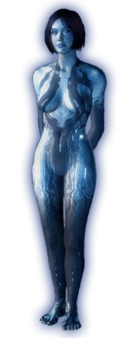 body suit, cleavage // Cortana Halo 4