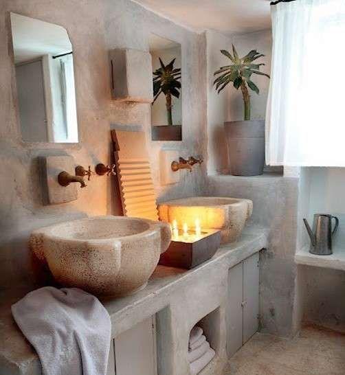 bagni rustici le foto dei pi belli bagno rustico in pietra chiara