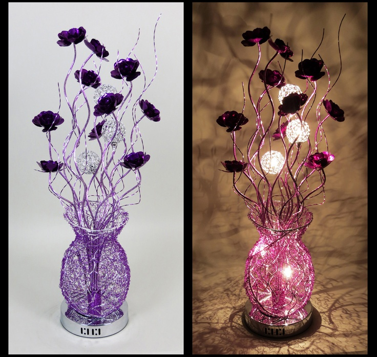 44 best wire table lamps images on pinterest wire table flower httpwirelampswlt2090 5silverpurple greentooth Gallery