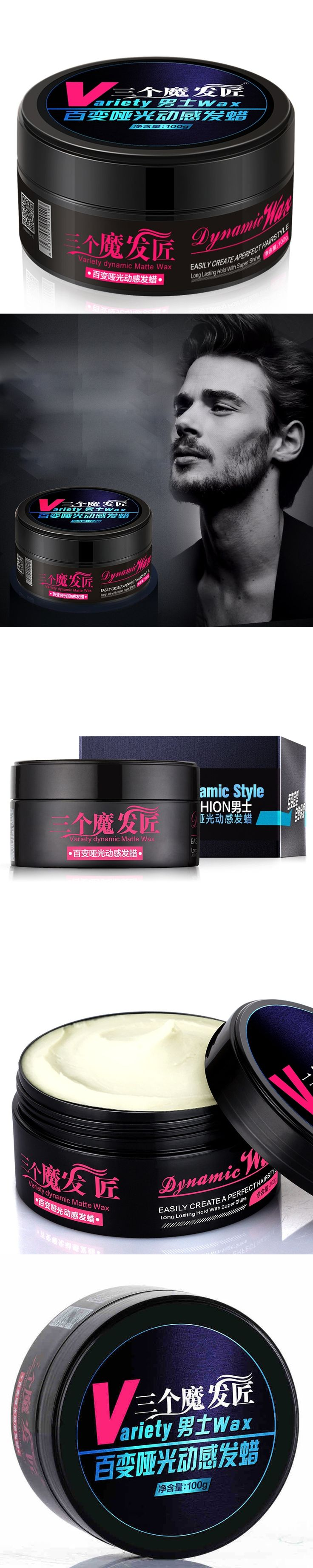 1PCS Professional Men Matte Hair Wax Cream Strong Lasting Fluffy Wax Hair Styling Type Hair Pomade Matte Long-lasting Hair Gel
