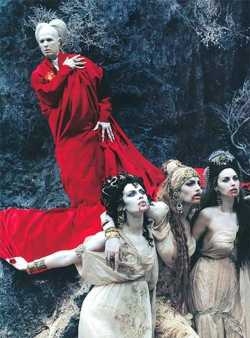 Dracula - from Bram Stoker's Dracula movie starring Gary Oldman as the classic lord of vampires. Gary Oldman in general plays great villain roles.