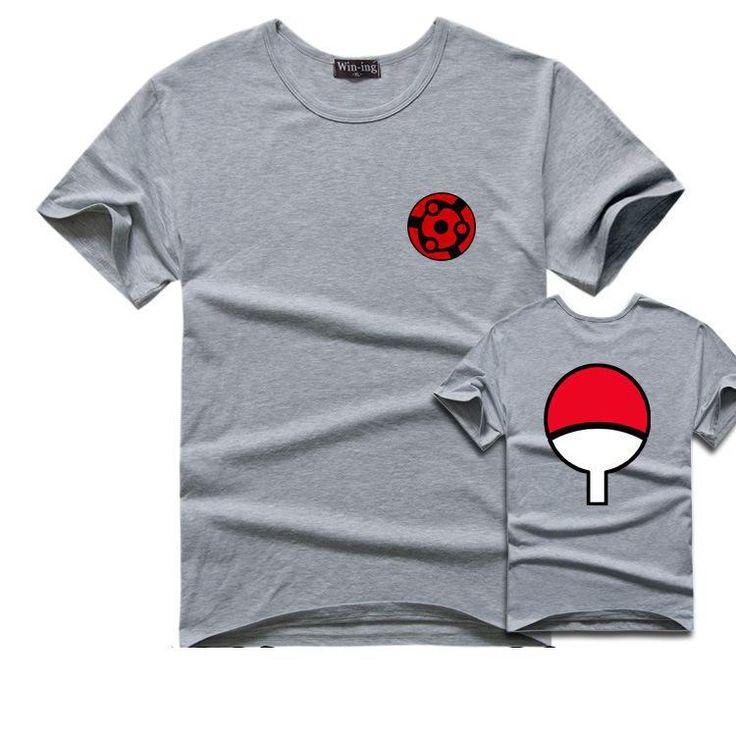 Sasuke T Shirt Men Tee Anime Naruto Uchiha Family Logo Sharingan Eye Symbol Cosplay T Shirts. Click visit to buy #T-Shirts