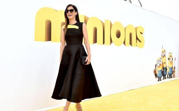 Sandra Bullock wore Minions heels to the movie's Los Angeles premiere | EW.com