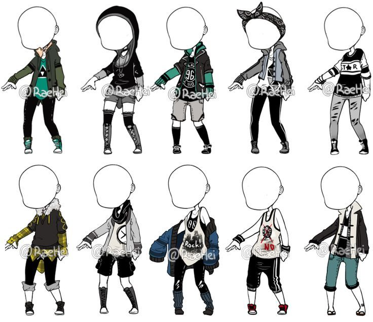 Manga Tomboy Outfits Make Outfit Adopt(CRED...