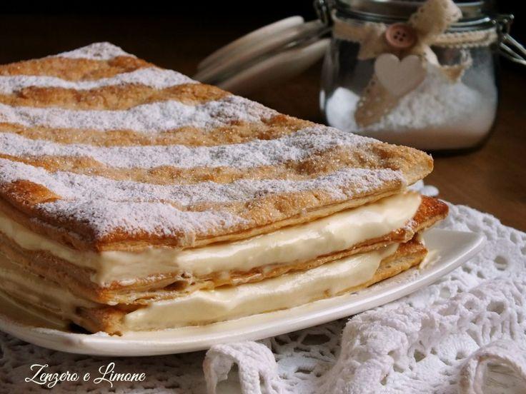 torta di sfoglia alla panna