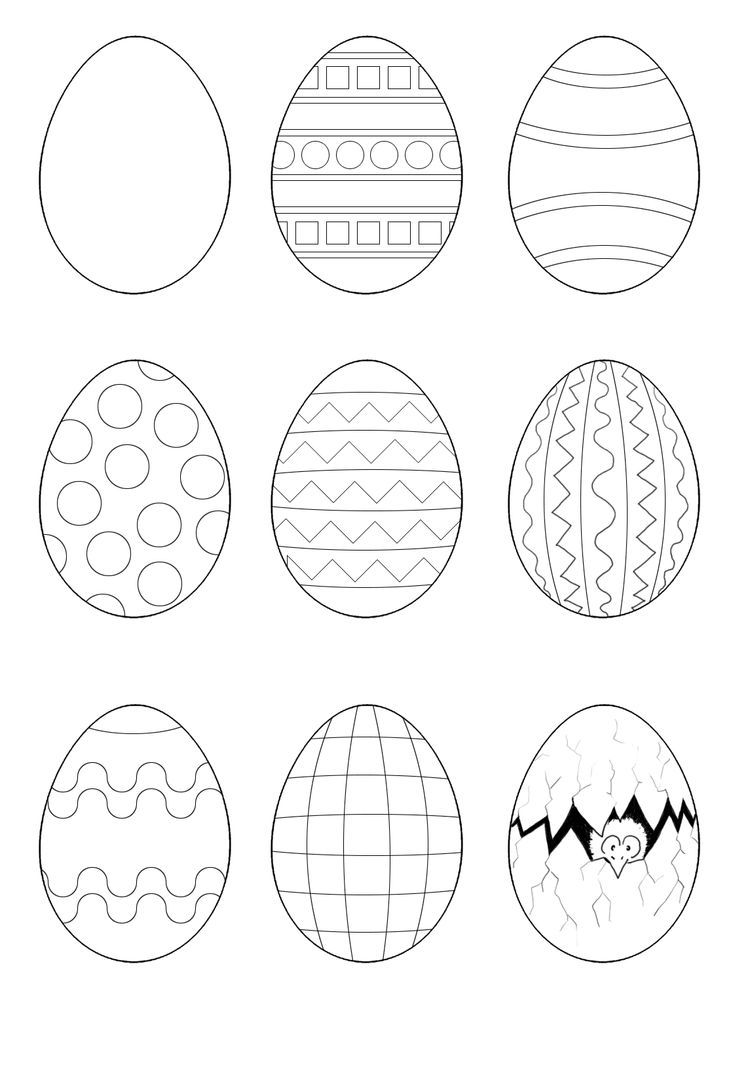 Easter Egg Coloring Pages Coloring Easter Pages