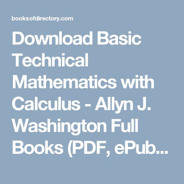 Download basic technical mathematics with calculus allyn j download basic technical mathematics with calculus allyn j washington full books pdf epub mobi click here or visit download full books pinterest fandeluxe Gallery