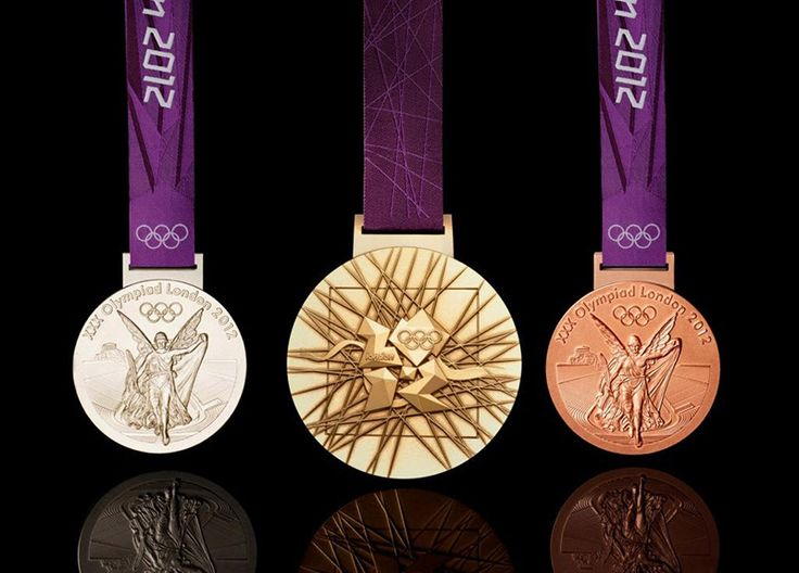 London Olympic Medals: Gold, Silver, and Bronze