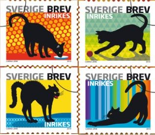 Sweden cat stamps