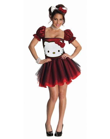 Hello Kitty Red Dress Adult Womens Costume