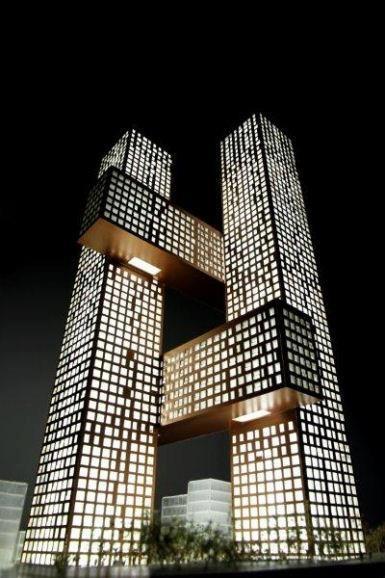 Cross # Towers, Seoul, South Korea.