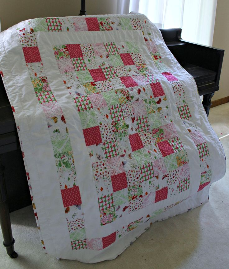 Baby Girl Butterfly Patchwork Quilt ~ Baby Girl Quilt ~ FINAL MARKDOWN by GoldShoeGoods on Etsy https://www.etsy.com/listing/155231726/baby-girl-butterfly-patchwork-quilt-baby