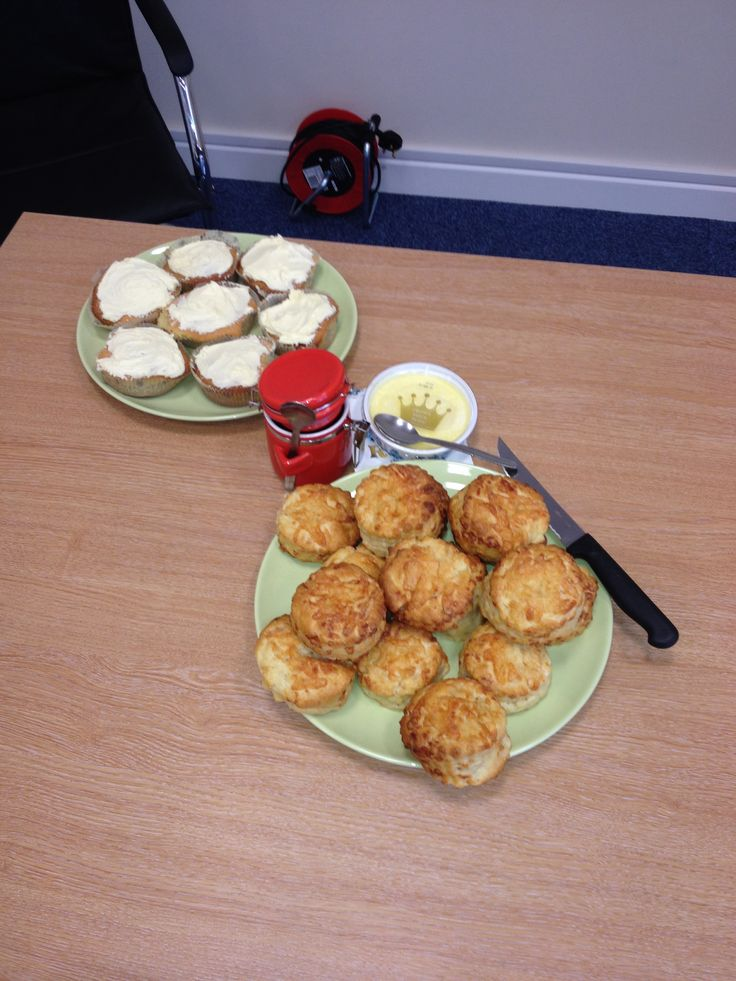Home made scones, jam and fairy vanilla cupcakes - raising money for Sport Relief 2014 and just to add this was the first time of making jam!