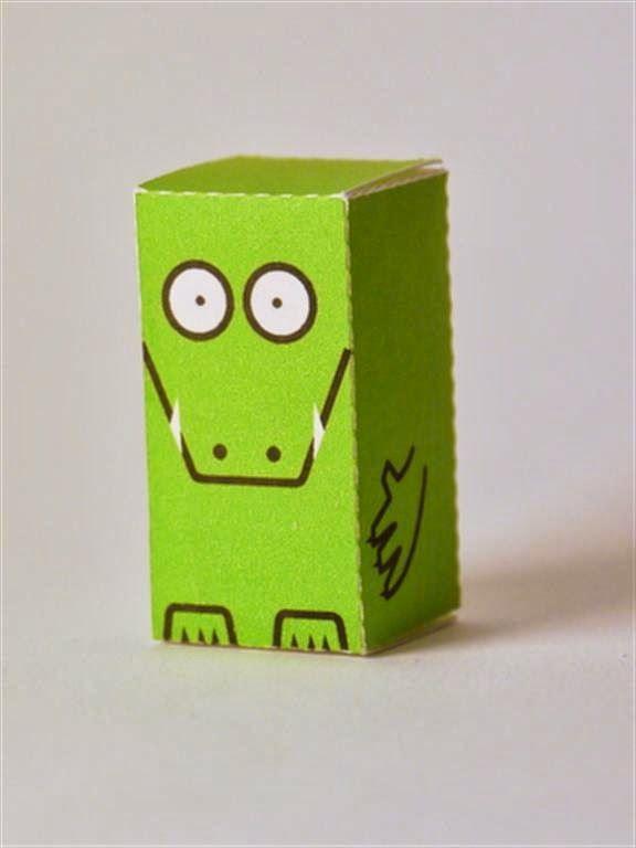 kerajinan gunting/tempel anak TK/SD, membuat sendiri kotak souvenir permen, buaya