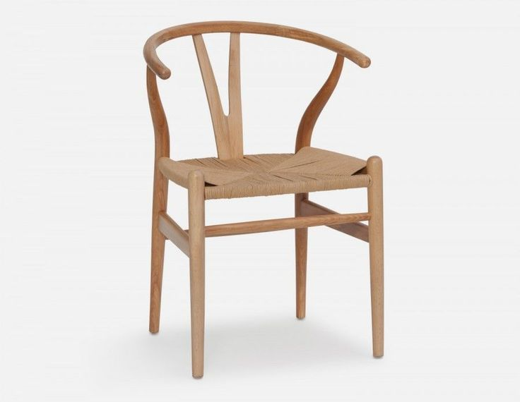 DENMARK - Dining chair - Natural Nice with white pedestal kitchen table?