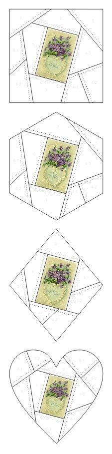 To My Sweet Valentine crazy quilt block patterns posted on Janet Stauffacher's Nostalgic NeedleART blog in 2012.